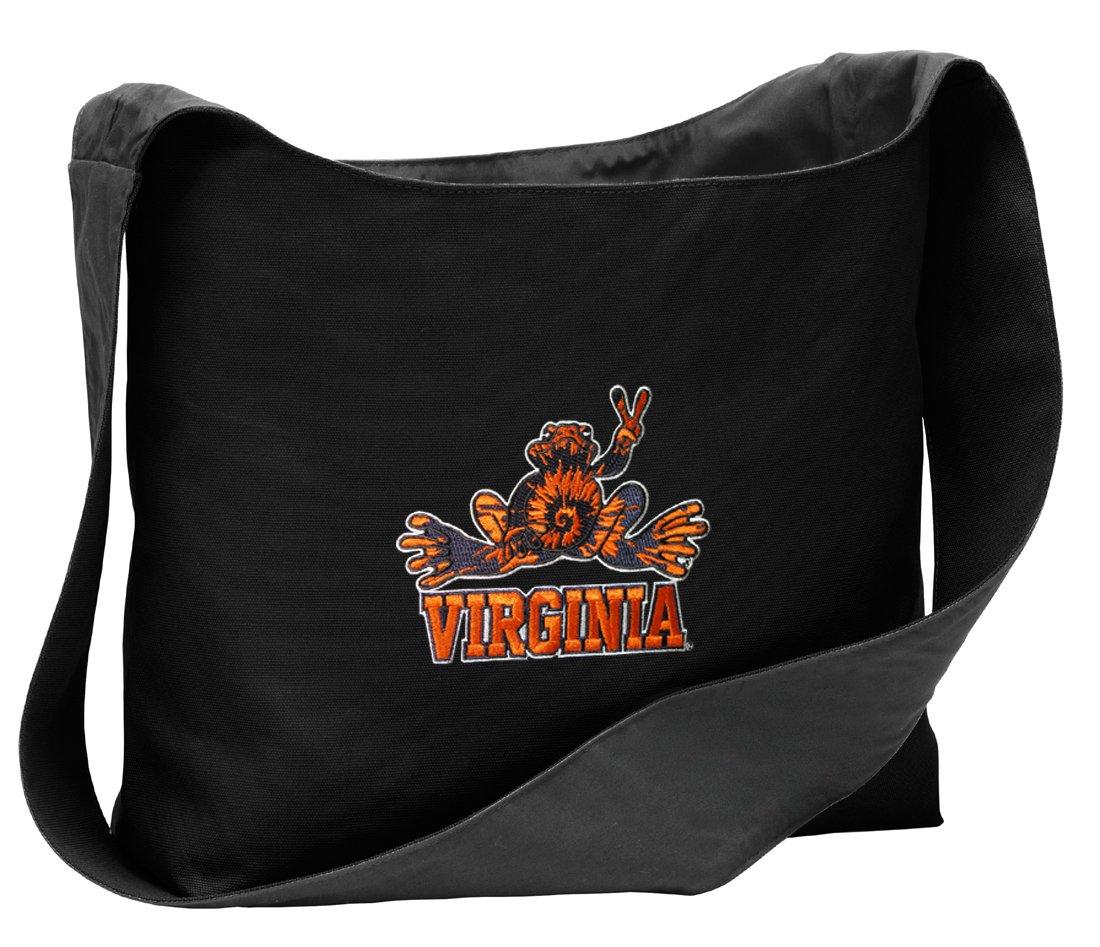 3b5afeb62839 Amazon.com : UVA Peace Frog Tote Bag Best Sling Style Across Body ...