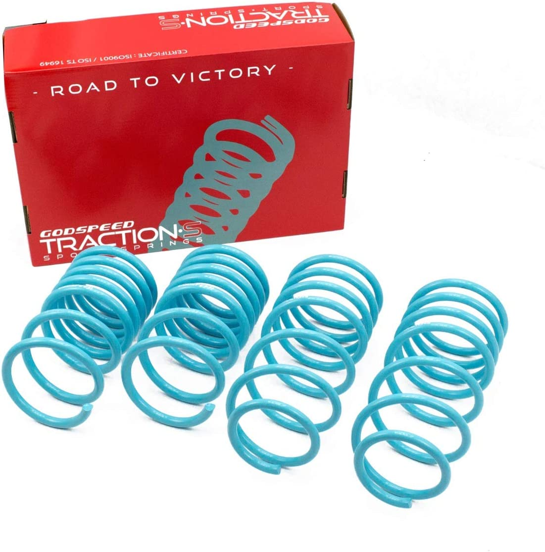 LS-TS-FD-0006-B Traction-S Performance Lowering Springs for ford Mustang Coupe 1994-98