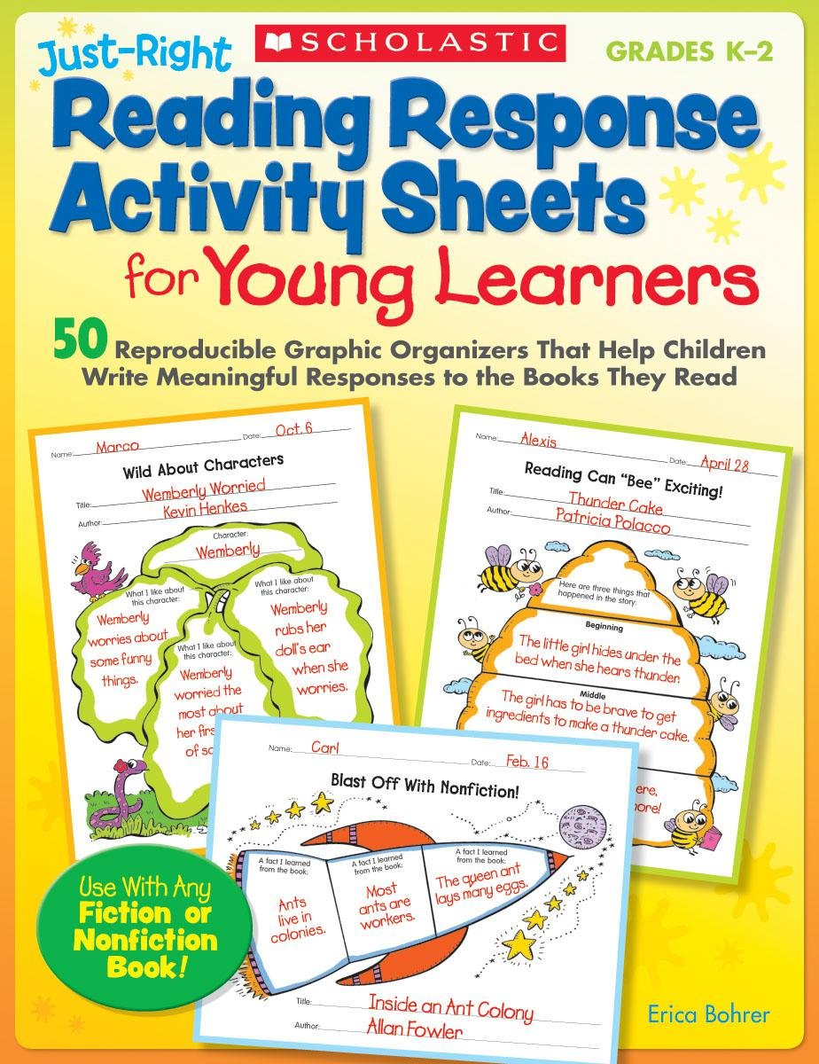- Amazon.com: Just-Right Reading Response Activity Sheets For Young