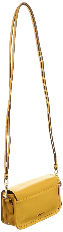 cbe6cc05f5af Amazon   [コーチ] COACH 公式 レガシー レザー ペニー ショルダー パース 19914 B4/SF B4/SF  (ブラス/サンフラワー)   斜めかけバッグ