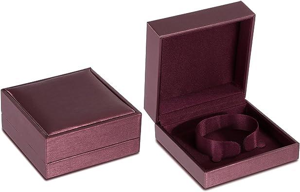 Blisfille Caja de Regalo Blanca Joyas para Hombre Amor Organizador ...