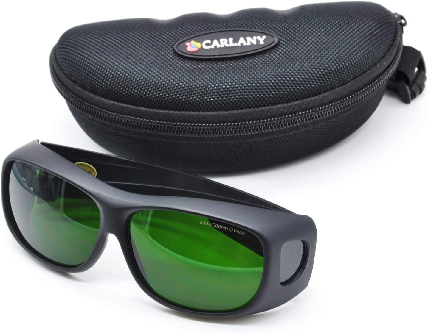 IPL Safety Goggles, Carlany 200-2000nm Typical Wavelength Laser eye Protection Glasses, Tanning Goggles, Eyewear, Eyepatch, Eyeshields for Operator & Patients in IPL, UV, Infrared LED Light Therapy