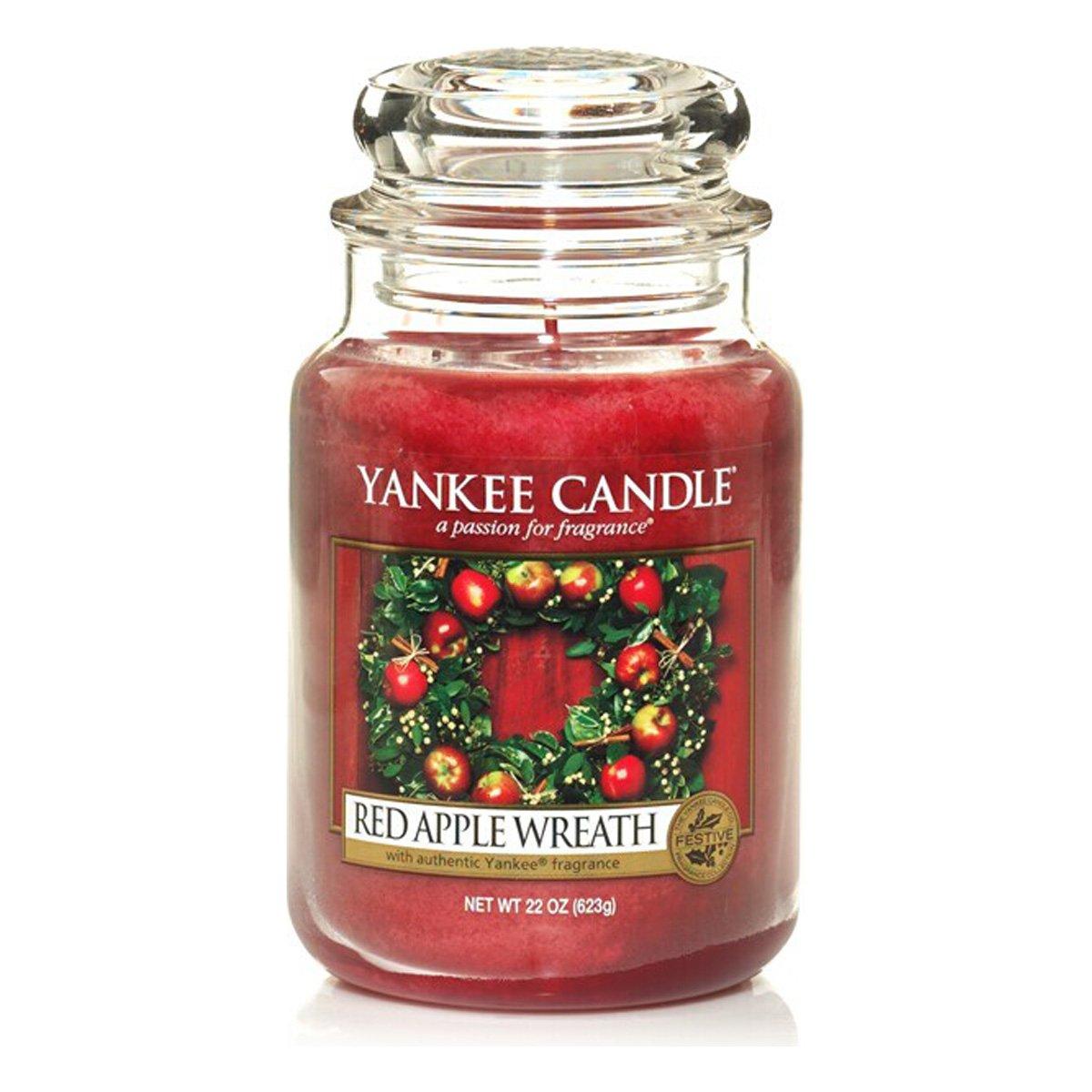 YANKEE CANDLE Bougie Grande Jarre, «Couronne de Pommes Rouges» 1120697E