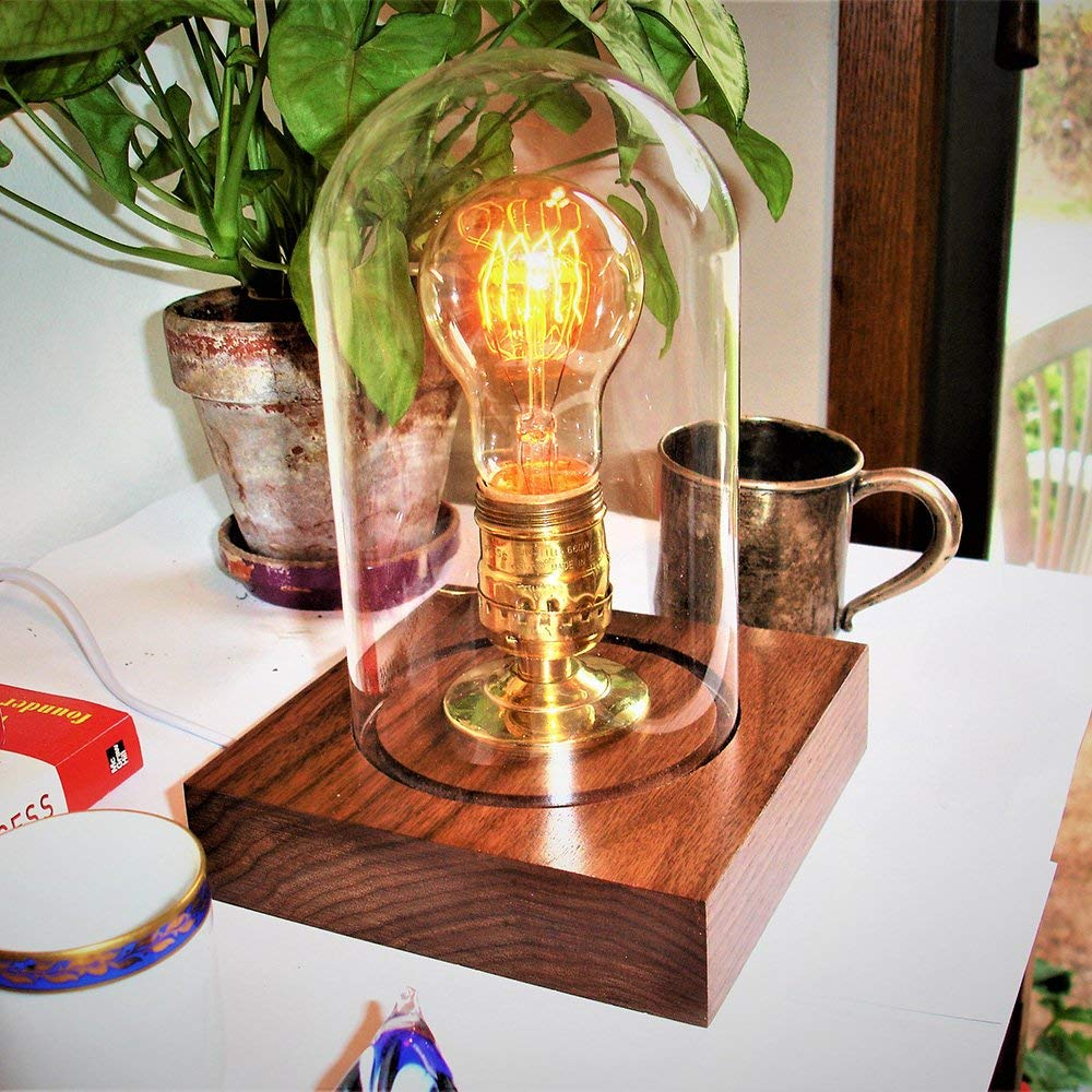Edison Light Bulbs,HESSION A19 40w Vintage Antique Tungsten Filament Bulbs,E26 Base Edison Bulbs, Decorative Light Bulb Dimmable 110V Amber Glass(6 Pack) by HESSION (Image #4)
