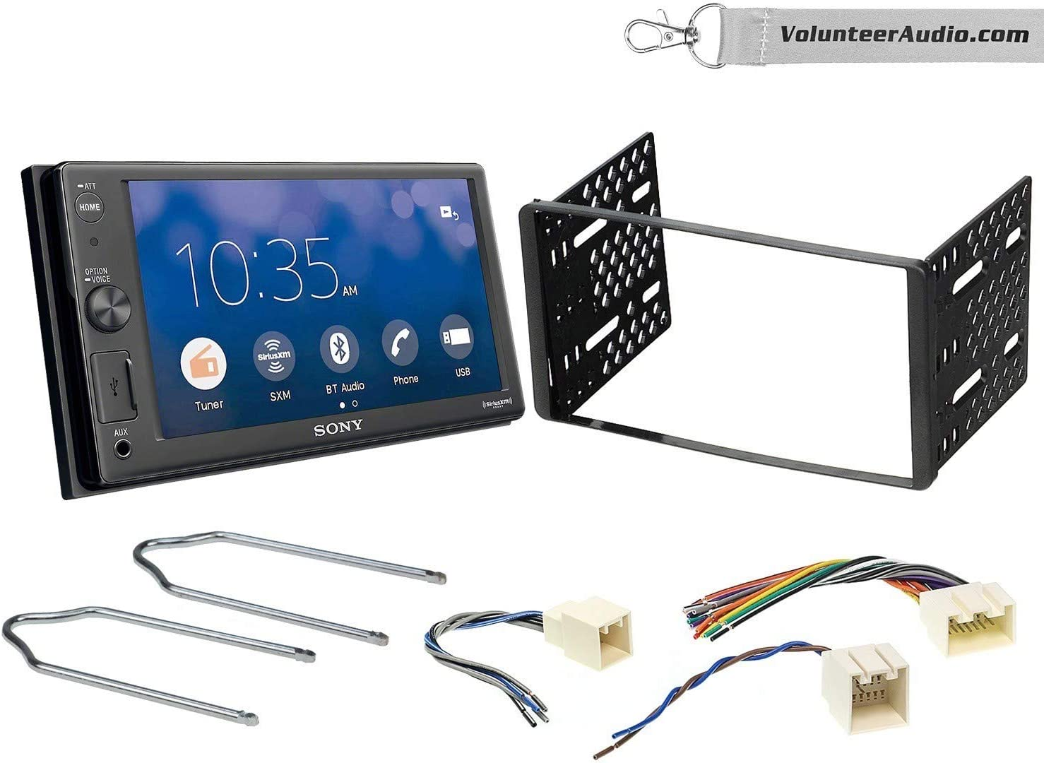 2000-2004 Excursion NO CD Player Fits 2001-2004 Escape 1999-2004 F-150 2001-2003 Mustang Sirius XM Ready Sony XAV-AX1000 Double Din Radio Install Kit With Apple CarPlay