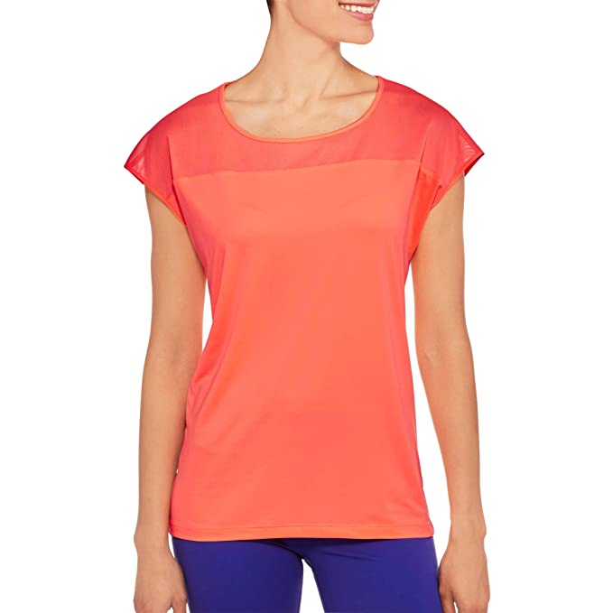 c2bd794b75c45 Danskin Now Women's Active Workout T-Shirt With Power Mesh Detail ...