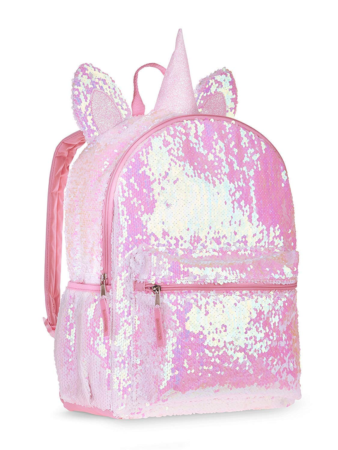 3965e78b7e91 Kitty Cat Sequin Backpack for Girls -- Deluxe Kitten Backpack with 2 Way  Sequins, 16 Inch