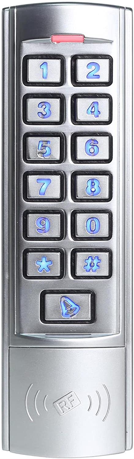 Em Id 125khz Slim Waterproof Ip68 Zinc Alloy Standalone Keypad Access Control Home Improvement