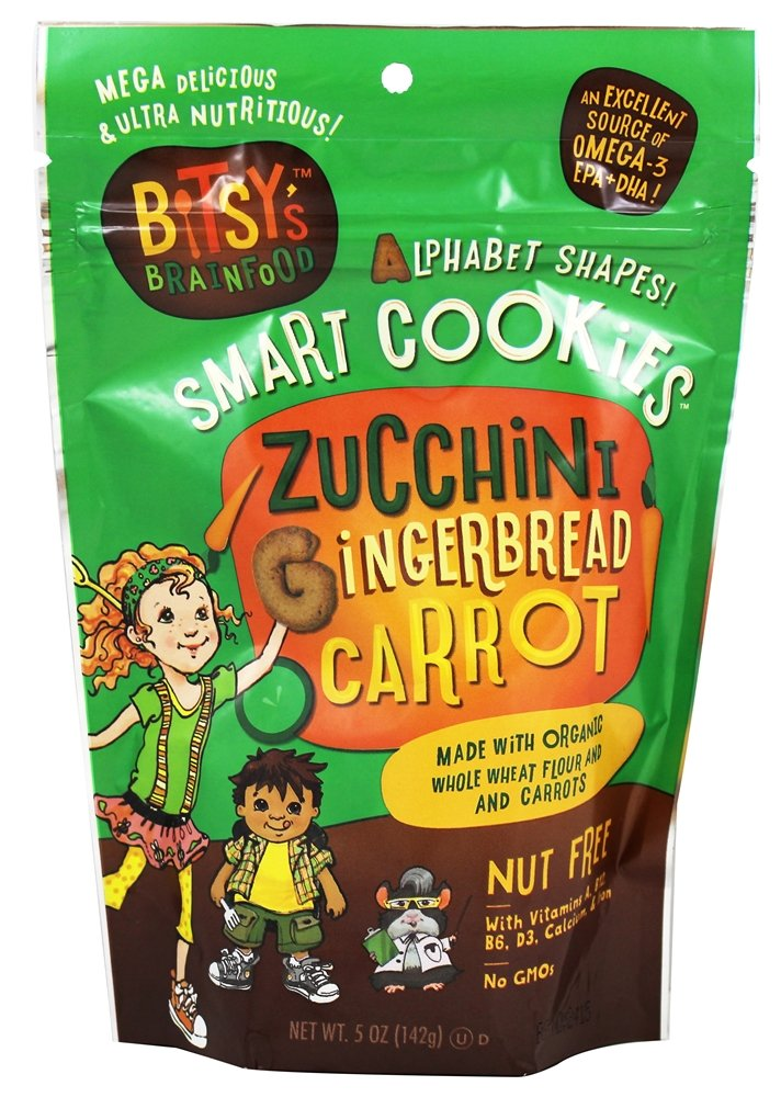 Bitsy's Brainfood - Smart Cookies Zucchini Gingerbread Carrot - 5 oz (pack of 2)