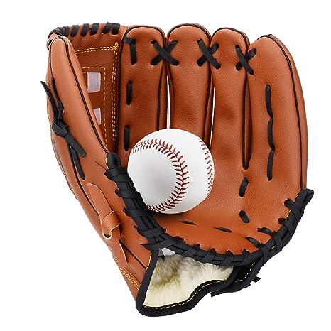 35e4514ad3549 Amazon.com : Unihoh Baseball Glove Softball Gloves - Right Hand ...