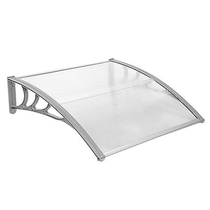 JOO Life 40u0026quot;x 40u0026quot; Window Awnings Front Door Canopy Outdoor Shade  Polycarbonate UV