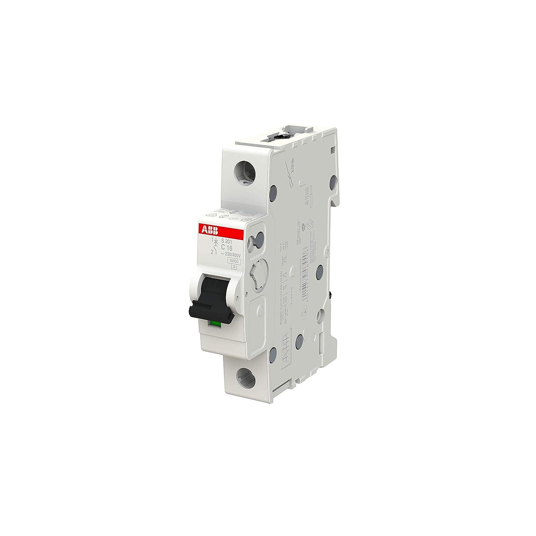 Type C 16 Amp Current 2CDS251001R0164 6//10kA Breaking Capacity ABB S201-C16 Miniature Circuit Breaker 1 Pole