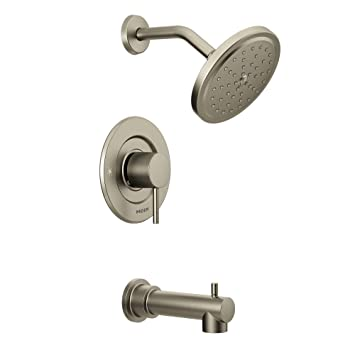 brushed nickel tub and shower faucet set. Moen T3293BN Align Tub and Shower Faucet Body Set without s Moentrol  Valve Brushed