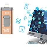 USB iflash Drive for iOS, 128 GB Flash Drive for iPhone, Android and Computers, Thumb Drive Memory Storage for Apple, Lighting Memory Stick