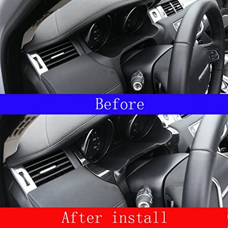 Telaio in legno di frassino scuro stile anteriore cruscotto Edge cover Trim ABS cromato accessori mano sinistra driver volante
