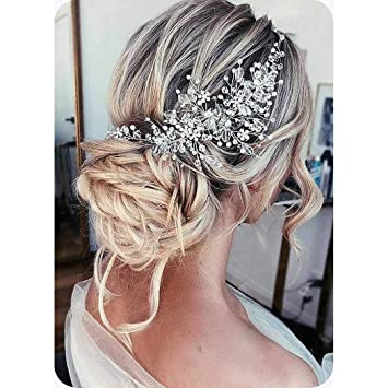 Bridal headpiece Bridal hair accessory crystal pearl headpiece Wedding headband