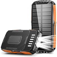 Cocoda Cargador Solar, 25000mAh Power Bank con 2 Linternas Ultra Brillantes, Batería Externa Portátil con 2 Salidas & 2…