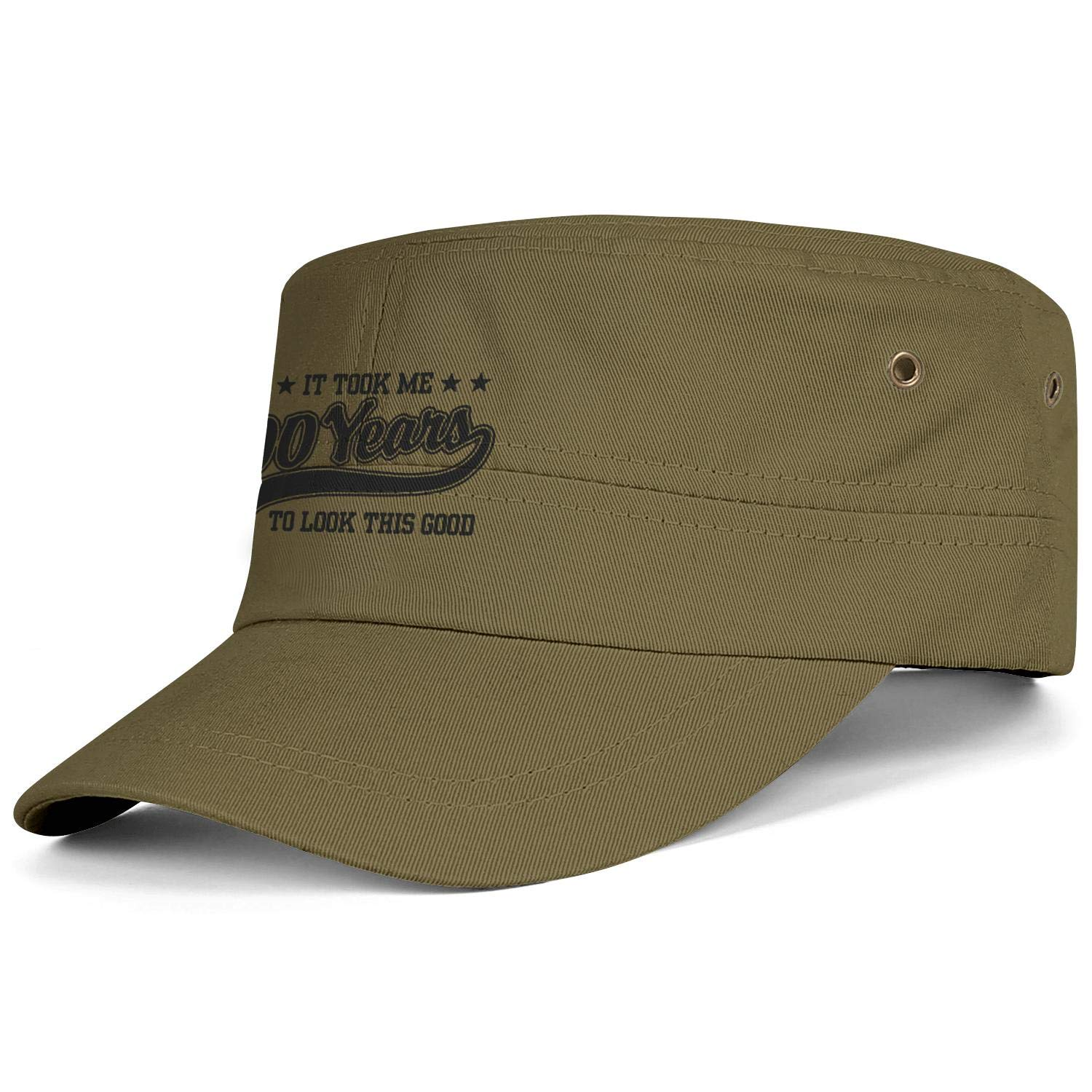 Unisex Military Hat Fuck It Vintage Flat Top Cadet Army Caps