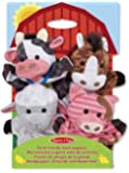 Melissa & Doug 19080 Farm Friends Hand Puppets (Cow, Horse, Sheep and Pig), Set of 4