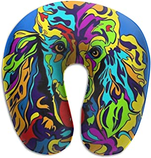 Xdevrbk Multi-Color Poodle Dog Neck Pillow, The Original U-Shaped Travel Pillow, for Comfort and Convenience in Travel Multicolor3