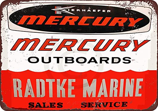 Metal Tin Sign mercury marine sales Pub Home Vintage Retro Poster Cafe ART