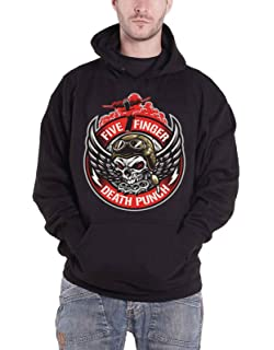 Five Finger Death Punch Bomber Black Pull Over Sweatshirt Hoodie New Official