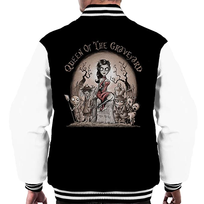 LeeAnna Vamp Tim Burton Queen Of The Graveyard Mens Varsity ...