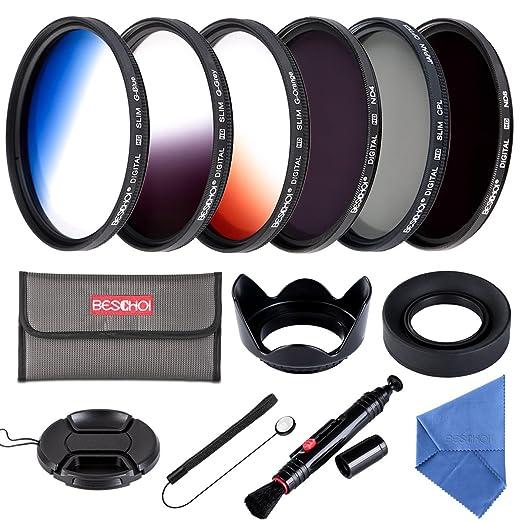 21 opinioni per Beschoi Filtro Nd + CPL, Kit Filtri 13 Pcs Accessori per Canon Nikon Sony Pentax