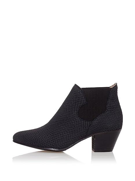 Sixtyseven Botines Chelsea Tacon Medio Negro EU 40: Amazon.es: Zapatos y complementos