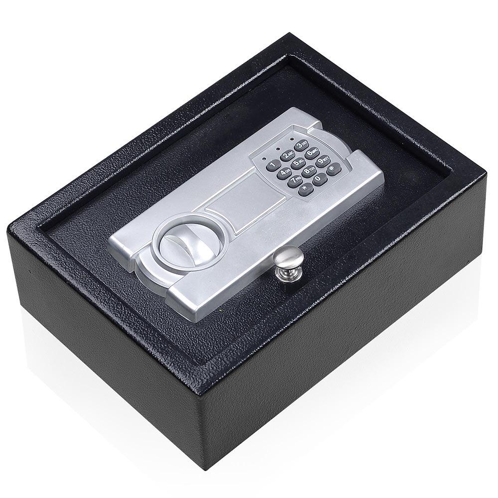 Portable 12X9 Keypad Safe Hand Gun Pistol Drawer Keyless Digital Electronic Lock Car RV Cash Box