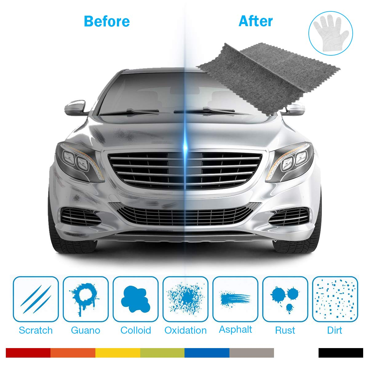 Autmor Scratch Remover Cloth for Car