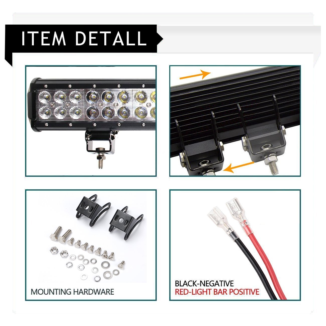 Dakride 234w 36 Inch Led Light Bar Offroad Spot Flood Jeep Liberty Wiring Harness Combo Beam W 3lead Kits Remote Control 2x 4 Pods Cube For Boat