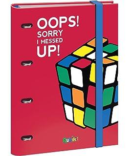 Dohe Rubik Color - Carpeta recambio de anillas, 25 mm, color rojo