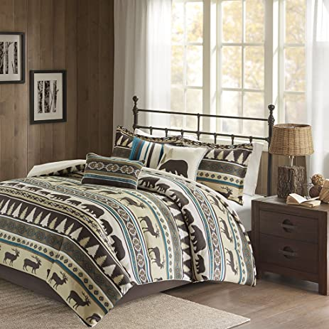 Great Missoula 7 Piece Herringbone Comforter Set Teal Queen Amazing Design