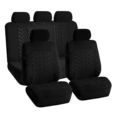 FH Group FB071BLACK115 Car Seat Cover (Travel Master Airbag and Split Bench Compatible Black): Automotive