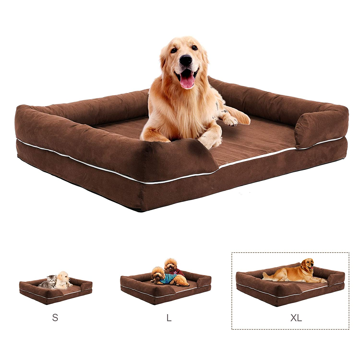 Strange Co Z Luxurious Pet Sofa Bed Comfortable Couch Bed Premium Memory Foam Mattress For Pets Dog Cat Or Puppy W Removable Washable Cover Extra Large Xl Home Interior And Landscaping Palasignezvosmurscom