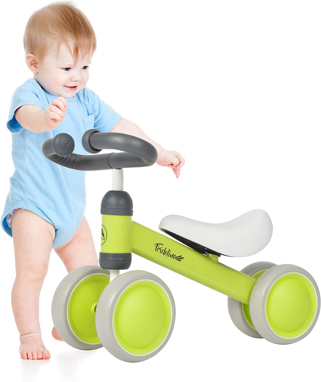 Apollo Bicicleta Fridolino sin Pedales de la amrca, Bicicleta de Equilibrio con Cuatro Ruedas para niños de 1 a 3 años, Bicicleta de Empuje para niños y niñas