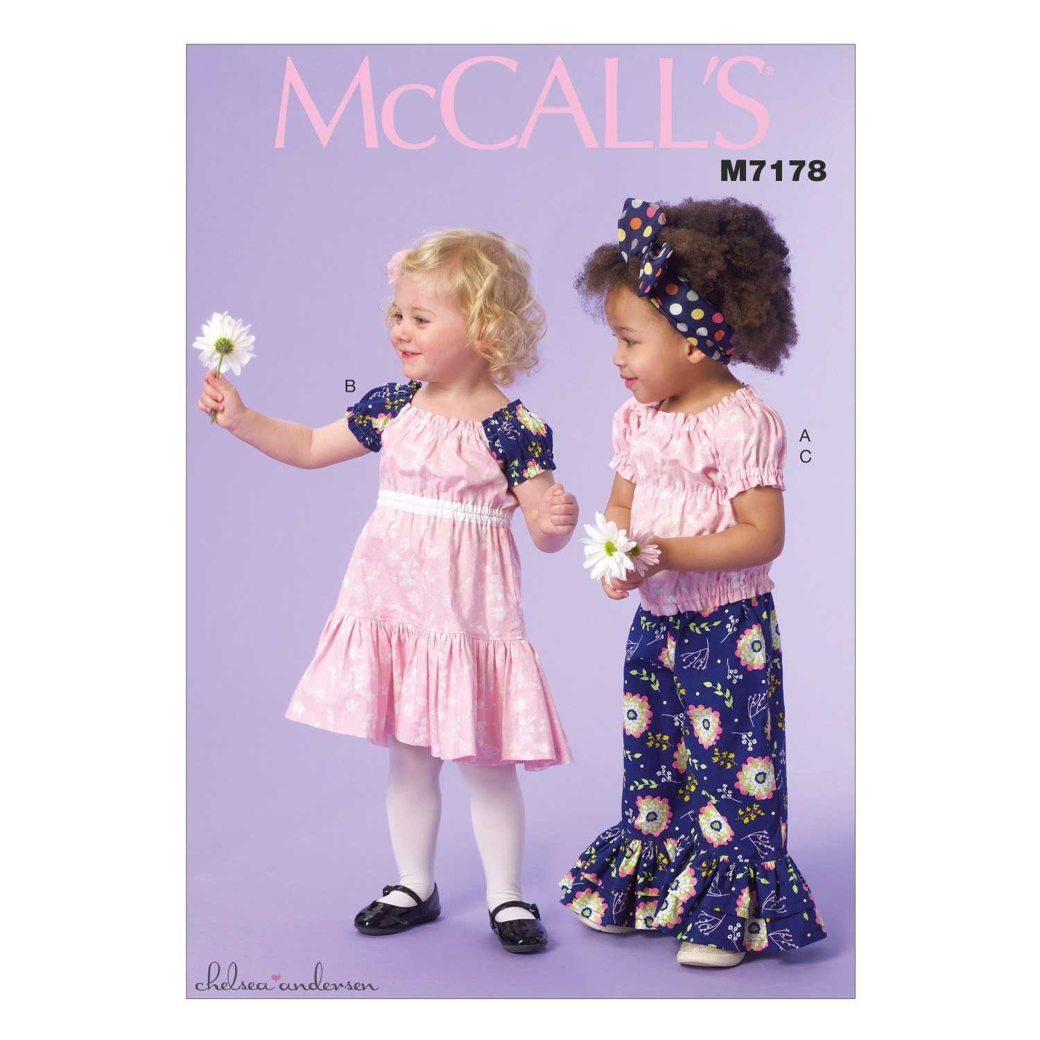 McCall's Patterns M7178 Toddlers'/Children's Top, Dress and Pants Sewing Template, CF (4-5-6) by McCall's Patterns   B0114COD9G