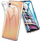 Msova Samsung Galaxy A30 SCV43 ケース ソフト Samsung Galaxy A30 SCV43 クリアカバー Samsung Galaxy A30 SCV43 クリア TPU 透明 シンプル メッキ加工 衝撃吸収 傷つけ防止 人気365日交換 クリア