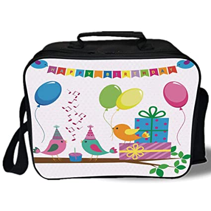 6c7a3be6688e Amazon.com: Birthday Decorations for Kids 3D Print Insulated Lunch ...