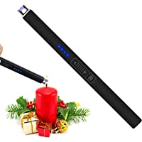FUKKUDA Lighter,Electric Candle Lighter,Windproof & USB Rechargeable,with Safety Switch,for Gas Stove,Grill,BBQ,Camping…