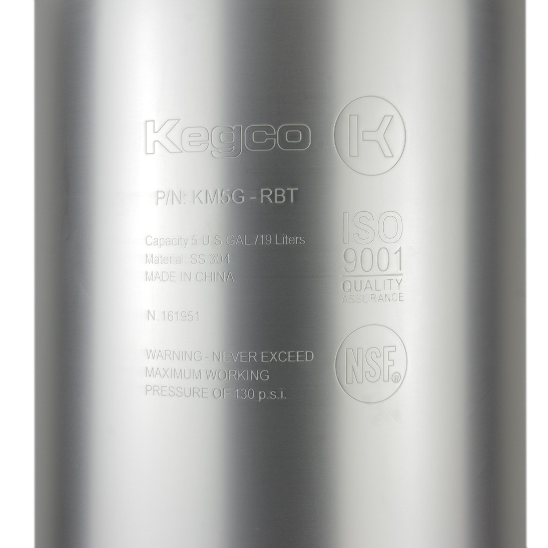 Kegco KM5G-RBT 5 Gallon Ball Lock Keg - RubberHandle by Kegco