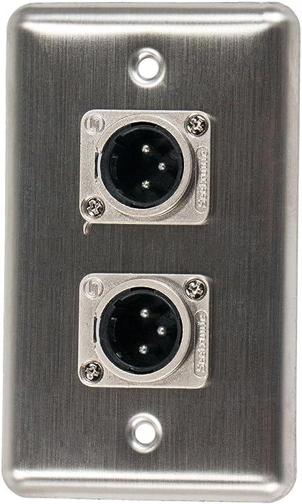 Black Angled Guitar Jack Plate for Fender Stratocaster//Strat® ESJP-B