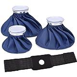 アイシングバッグ 4個セット 氷嚢 アイスバッグ 専用サポーター 繰り返し利用 ケガ 熱中症 スポーツ用 頭痛 歯痛 発熱 肩痛 関節痛 冷温両用