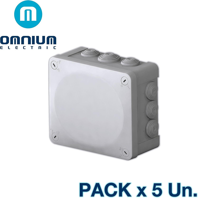 Caja estanca IP55, 175x150x80mm, con conos y tapa con tornillos ...