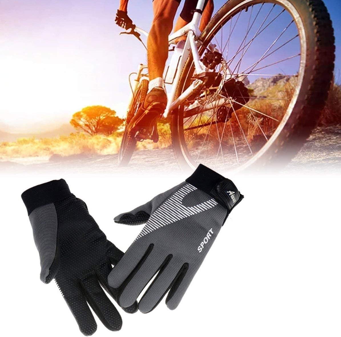 Gris Sunnyflowk Guantes de Fitness con Estilo Antideslizantes Guantes de Ciclismo Gruesos a Prueba de Viento Dedo Completo Moda Deportes al Aire Libre Guantes c/álidos