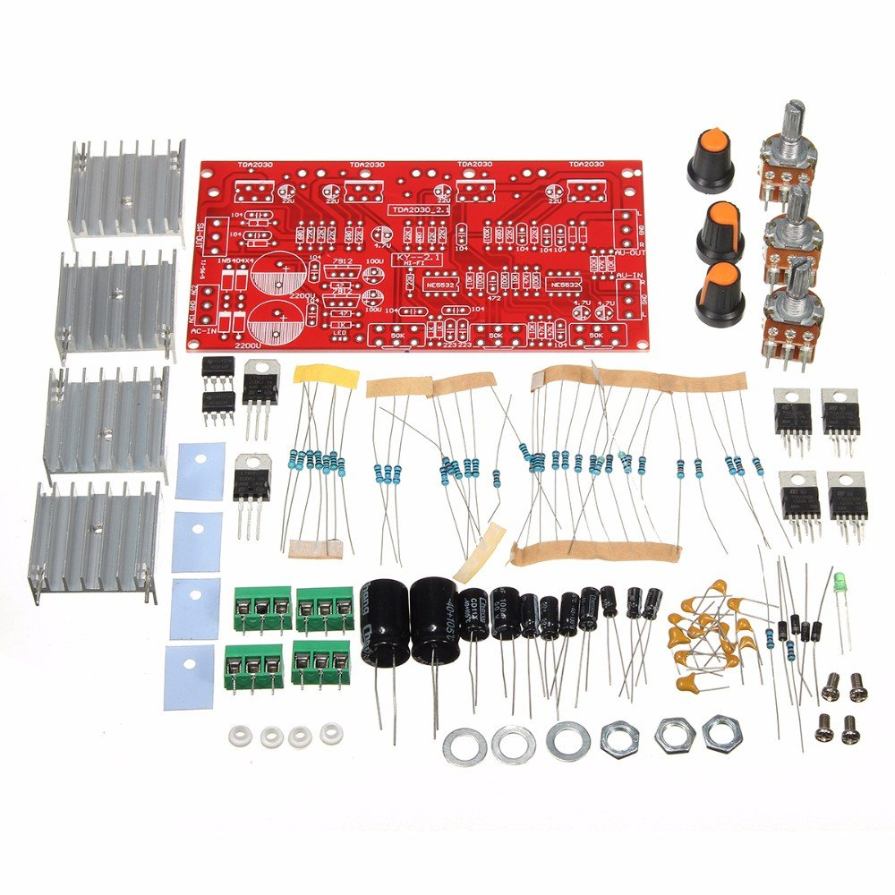 Diy 12v 30w Tda2030 Audio Power Amplifier Board Dual Tda 21 Circuit Electronics