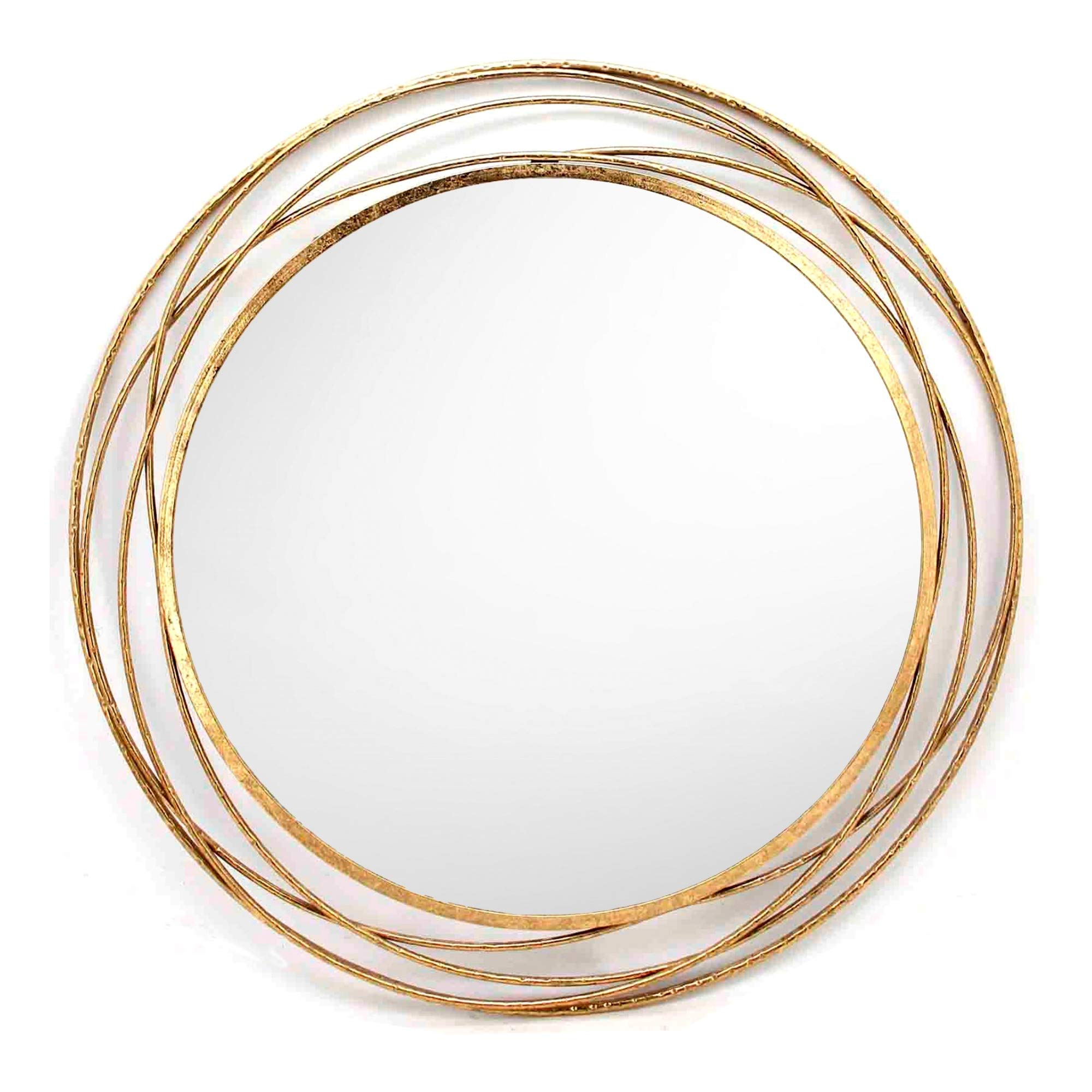 SPAZIO 7109-1 Swirl Wall Mirror, One Size, Antique Gold by SPAZIO (Image #2)