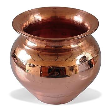 AsiaCaft SmallHandmade Copper Lota Kalash Glassware & Drinkware at amazon