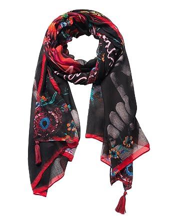 f97c9930f0f4 Desigual Fular joala, Echarpe Femme, (Negro 2000), Unique (Taille Fabricant